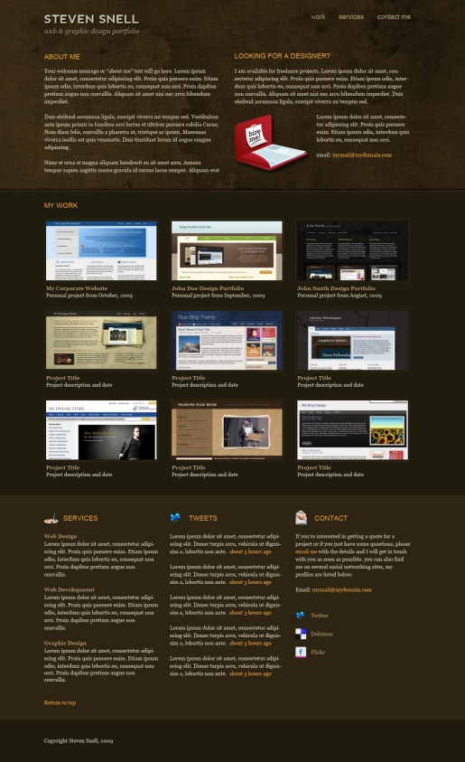 Design an Attractive One-Page Portfolio Using Photoshop