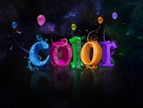 Create Colorful 3D Text Effect in Photoshop