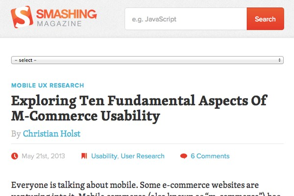 smashing magazine homepage layout inspiration responsive