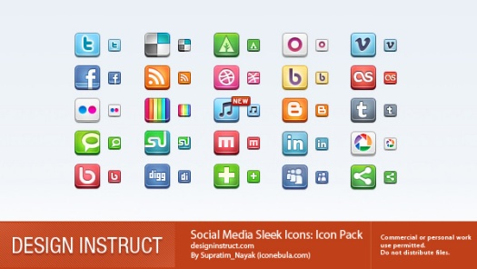 Social Media Sleek Icons