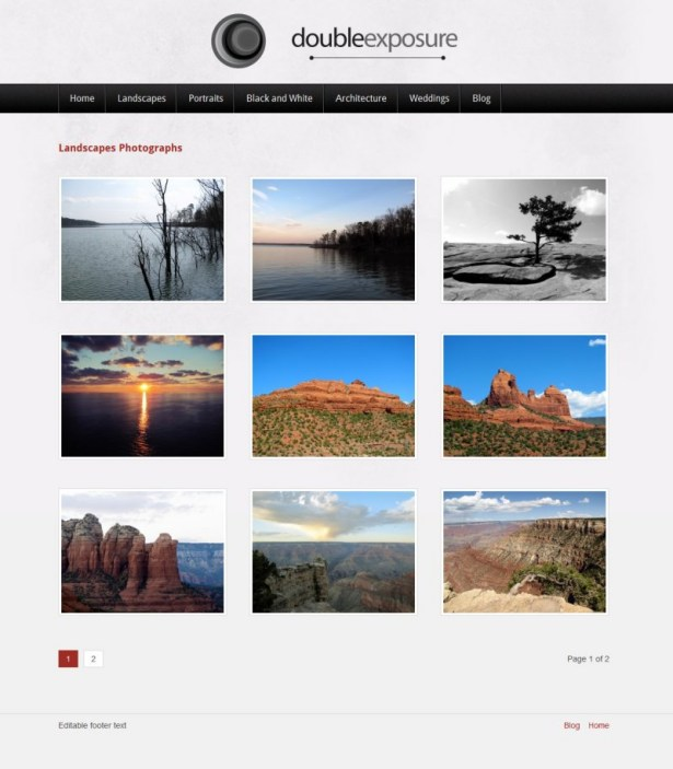 Documentation for Double Exposure Photography WordPress Theme