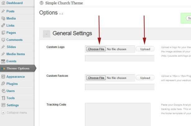 Documentation for Green Grunge Church WordPress Theme