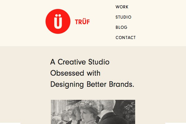 truf creative website layout responsive navigation links