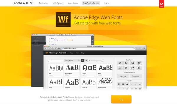 Adobe Edge Web Fonts