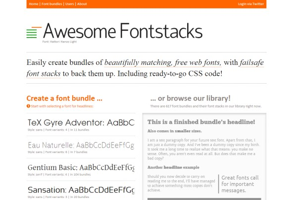 Awesome Fontstacks