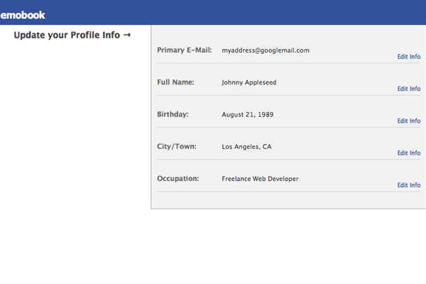 Facebook-Style Inline Profile Edit Fields with Ajax on