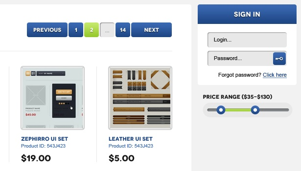 Quickly Design an E-Commerce Website Using a UI Set